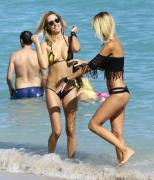 Lauren Stoner Bikini candids at a Beach in Miami 16/01/2016