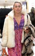 Miley Cyrus departing at JFK airport in New York 1/18/16