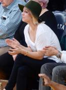 Kaley Cuoco Houston Rockets vs LA Lakers in LA 1/17/16