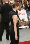 Rebecca Hall sideboobs almost tit pop out