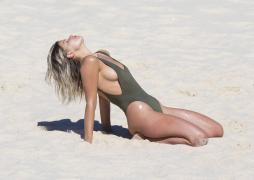 Kristina Mendonca - in barely-there bikinis on Bondi Beach 9/5/17 Part 2